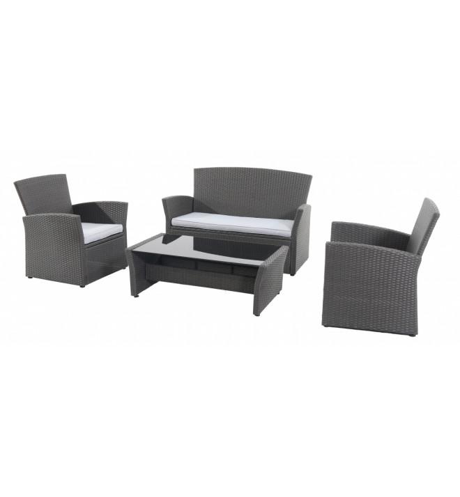 Wicke 4+ grey  sestava nábytku z ratanu