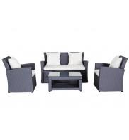 Wicke 4+ grey lux sestava nábytku z ratanu